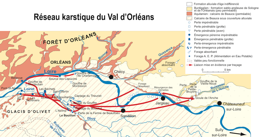 Réseau karstique du Val d'Orléans